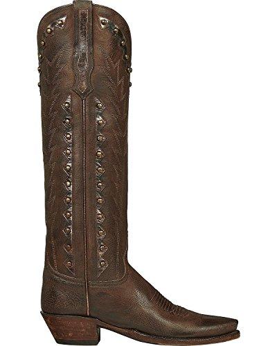 Lucchese Womens Handgjorda Dani Getskinn Lång Cowgirl Boot Spetsig Tå - Gy4576 Whisky