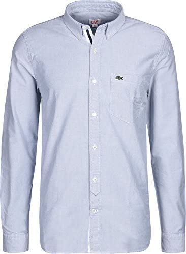Lacoste L!VE Ch7779 Camisa, Azul (Amiral/Blanc), 40 (Talla ...