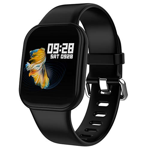 Fitness Tracker Blood Pressure Heart Rate Monitor Smart Watch Touch Screen Waterproof Activity Tracker Pedometer Calorie Sleep Monitor Bluetooth Watch for Men Women Kids