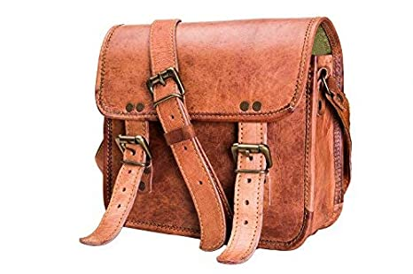 6f53fc2145 Amazon.com  Urban Leather 9 Inch Small Messenger Shoulder Satchel ...
