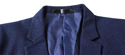 Blazer Fit Business Lavoro Smithroad Per Slim Giacca Dunkelblau Uomo Libero Elegante Vintage Tempo Il Sportiva Da pwCrpqR