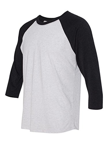 6025fcc6279 Next Level Apparel 6051 Unisex Tri-Blend 3 By 4 Sleeve Raglan - Vintage  Black