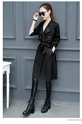 Fashion Estilo Otoño Abrigos Simplemente De Gabardina Casuales Slim Especial Con Largo Fit Cinturón Transición Invierno Outerwear Mujer Elegantes C Abrigo Manga v5Ar5Oxq
