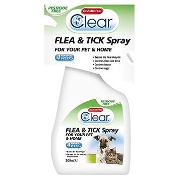 BOB MARTIN Transparente pulgas y garrapatas Spray para gatos y hogar, 300 ml: Amazon.es: Productos para mascotas