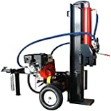 Log Wood Splitter Hydraulic 45 Ton 15HP 4 Way Splitting Wedge Gas Powered Electric Start Tow Hitch Package - 1 Year Parts Warranty