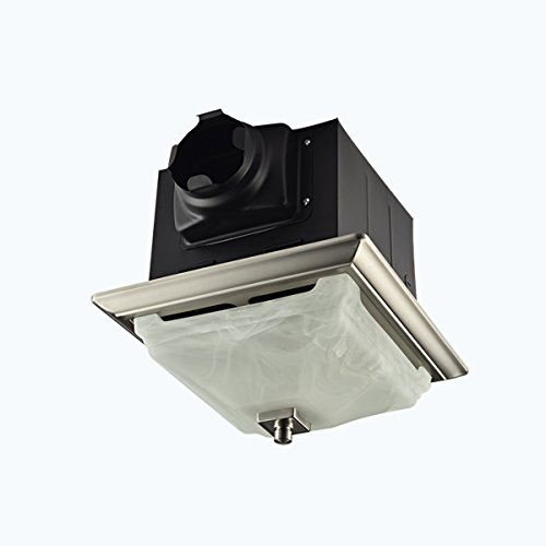 Lift Bridge Kitchen & Bath DSQR110BN Exhaust Bath Fan, Brushed Nickel