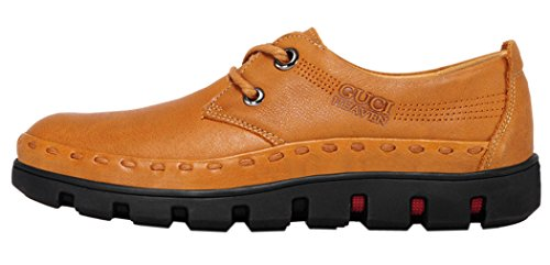 Guciheaven Mens 2015 New British Style Low Top Lace-up Casual Shoes(7.5 D(M)US, Tan)
