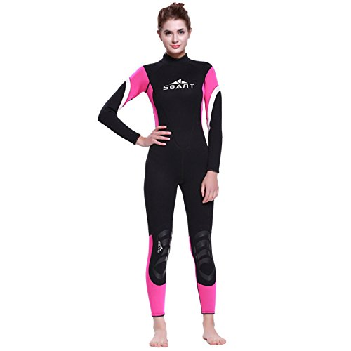 Cahayi Women Mens Full Wetsuits Neoprene 3mm Long Sleeves Diving Surfing Suit ()