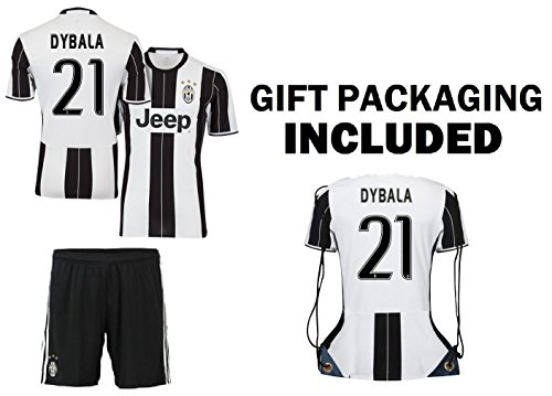 c4ebb1f3a Dybala Juventus Home Youth Soccer Jersey   Shorts   Kit Bag Great GIFT for Kids  Boys Girls Footbal Jersey Juve Dybala  21 - Buy Online in Bahrain.