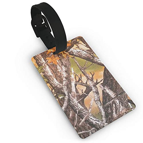 (Realtree Camo Durable Luggage Tags, Luggage Tags With Full Back Privacy Cover)