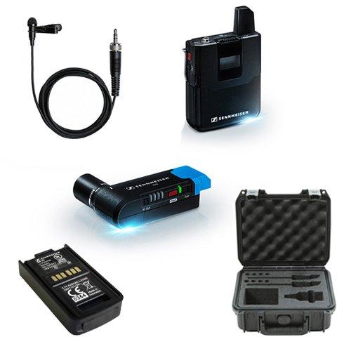 Sennheiser AVX Camera-Mountable Lavalier Digital Wireless Set (ME2 Lavalier) Bundle with SKB Waterproof Case and BA20 Recharging Battery Pack