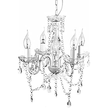 AS Gypsy Crystal Chandelier Small White Arm H W Acrylic - Chandelier acrylic crystals