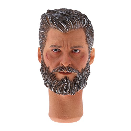 Wolverine 12' Figure (Jili Online 1/6 Male Head Sculpt Accessory for 12 inch Logan Action Figure The Wolverine)