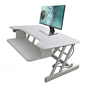 ERGONEER Ergonomic Sit to Stand Desk Computer Workstation | Height-Adjustable Standing Desk Riser with Retractable… 22