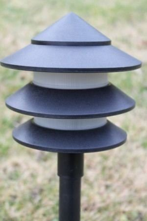 Low Energy Garden Lighting Set of 10 Low Voltage Pagoda Lights