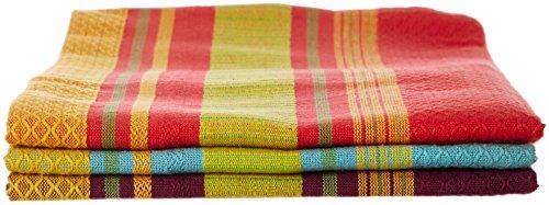 Jardin 100 Percent Cotton Dishtowels Striped