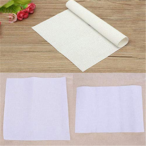 Aida Cloth - 30 30cm 45 Embroidery Aida Cloth Fabric Canvas Cross Stitch - Beginners Soft Bolt Silver Squares Hand Fabric Ivory Yard Colored Mark Yellow Count Size Book Design B07mf7