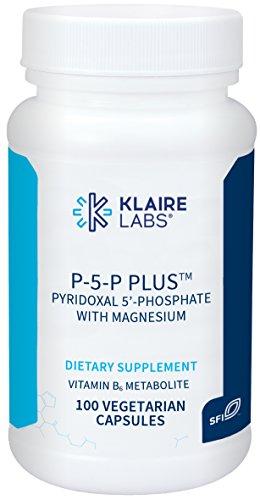 Klaire Labs P-5-P Plus - Pyridoxal-5-Phosphate Vitamin B6 with Magnesium, 100 Capsules