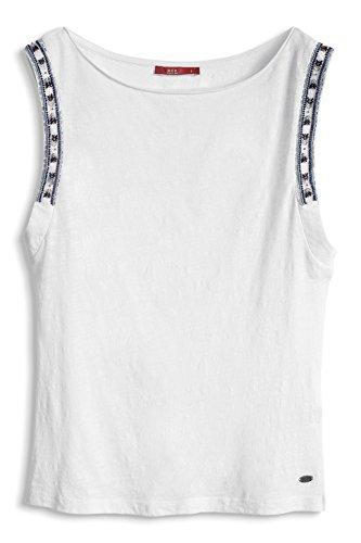 Esprit Arm Deco - Camiseta Mujer Blanco Blanco
