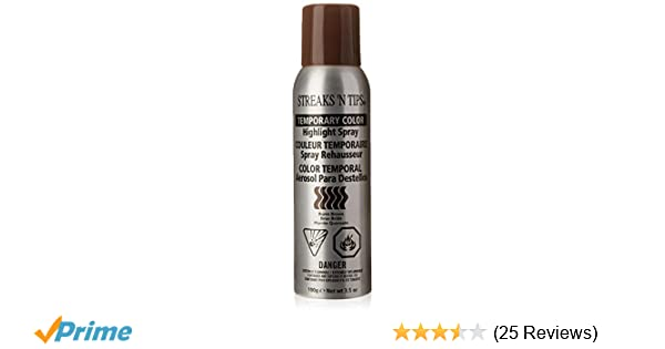 Amazon.com : Streaks N Tips Burnt Brown Temporary Spray-on Hair Color, 3.5 oz : Hair Highlighting Products : Beauty