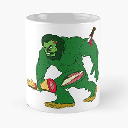 Perfect Gift Idea Zombie Bigfoot Funny Dabbing Shirt - 11 Oz White -coffee Mug- Unique Birthday Gift-the Best For Holidays.]()