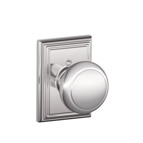 Decorative Door Trim (Schlage F170AND625ADD Addison Collection Andover Decorative Trim Knob, Bright Chrome)