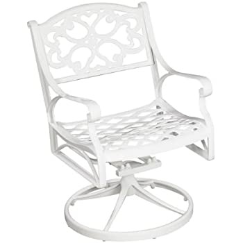 Home Styles 5552 53 Biscayne Swivel Arm Chair, White Finish
