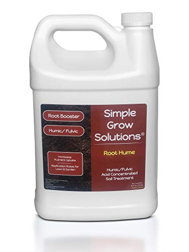 Raw Organic Humic Fulvic Acid- Liquid Carbon - Root Hume- Simple Grow Solutions- Natural Lawn & Garden Treatment- Nutrient Plant Food Enhancer- Concentrated Turf Grass Soil Conditioner (1 Gallon) ()