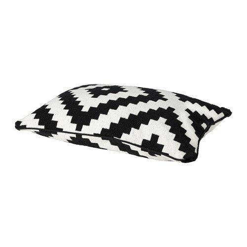 Ikea LAPPLJUNG RUTA funda de cojín, blanco/negro: Amazon.es ...