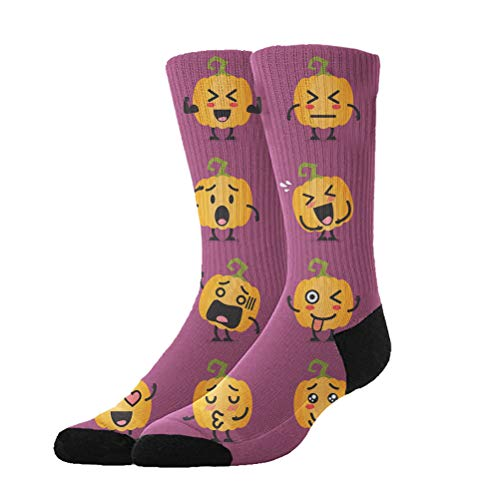 Jinkela Novelty Cool Crazy Funny Dress Socks,Halloween Pumpkin Patterns Cotton Crew Socks, Gifts for Men & -