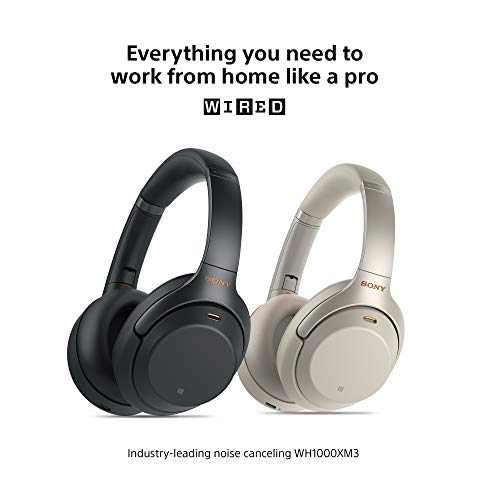 Sony WH1000XM3 Noise Cancelling Headphones, Wireless Bluetooth Over the Ear Headset – Black (2018 Version) 6