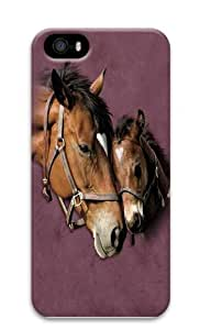 Two Hearts Horse Polycarbonate Hard Case Cover for iPhone 5/5S 3D by icecream design