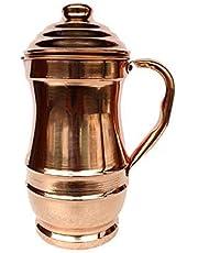 Pure Copper Pitcher jug for Ayurveda yaga Health Benefit Hammered Tumbler Jug, Handmade