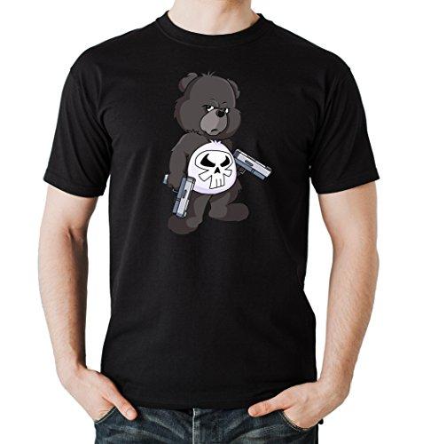 Punisher Bear T-Shirt Black Certified Freak