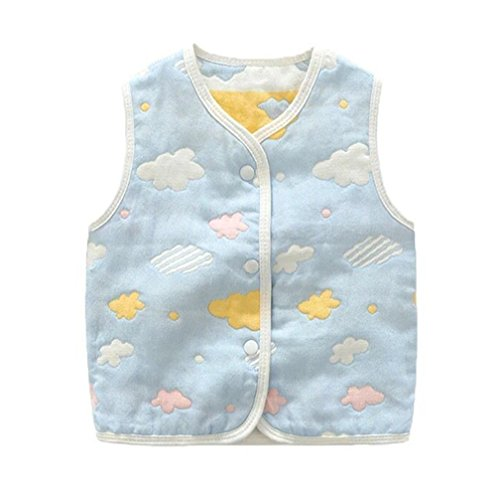 - luyusbaby Infant Baby Outwear Vests Colorful Guaze Reversible Waistcoat 3-6 Months