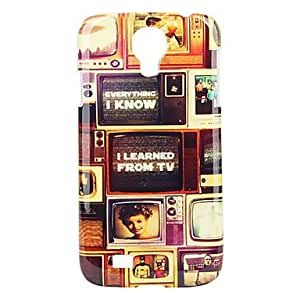 Retro Style TV Pattern Hard Case for Samsung Galaxy S4 I9500
