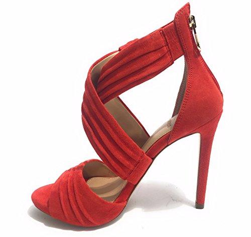 Sandalias Guess Para Mujer Zapatos Mod. Azali Tc 110 Coral Suede Leather Ds17gu57