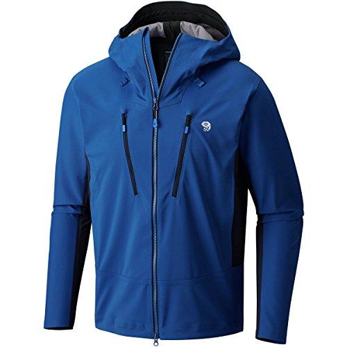 Mountain Hardwear Men's Touren Hooded Softshell Jacket, Nightfall Blue, XL