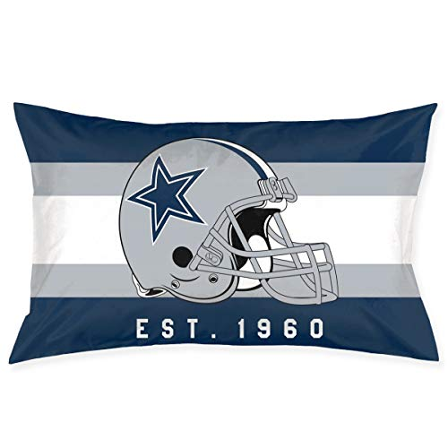 - Marrytiny Custom Rectangular Pillowcase Colorful Dallas Cowboys American Football Team Bedding Pillow Covers Pillow Cases for Sofa Bedroom Bedding Car Home Decorative - 20x30 Inches