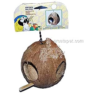 Pen Plax BA750 Coconut Shell Bird House or Nest for Finches 9