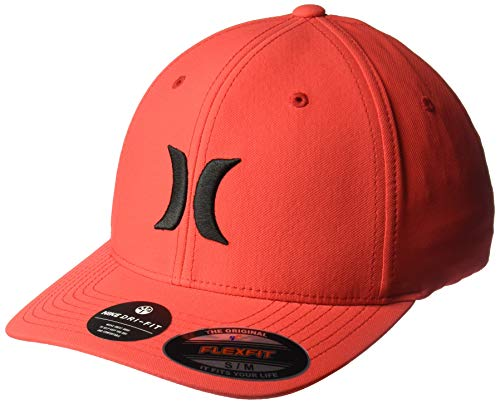 Hurley Men's Dri-Fit One & Only Flexfit Baseball Cap, Speed red/(Black), S-M ()