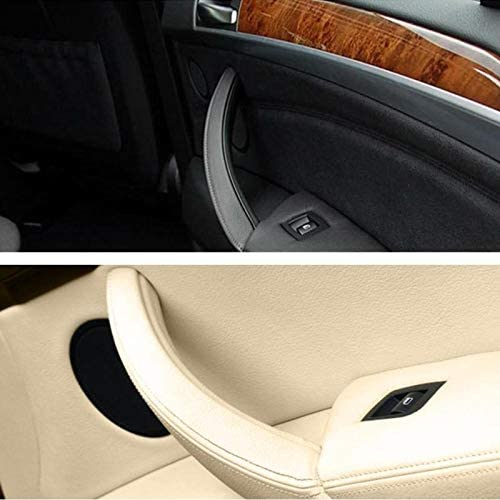 CFHMLK 1 Piezas de la Cubierta del Ajuste del tir/ón de la manija del Panel de la Puerta Interior Derecha del Coche para BMW E70 X5 E71 E72 X6 SAV Accesorios del Coche