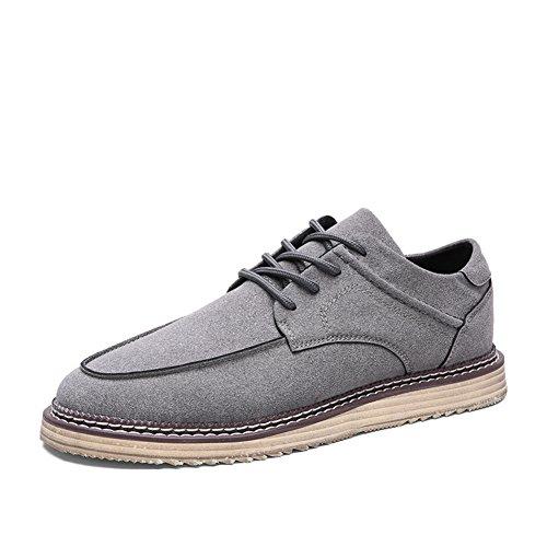 Resbalón de la moda en zapatos casual de negocio del verano/Diario ejercicio marea zapatos/Zapatos de los hombres salvajes gris