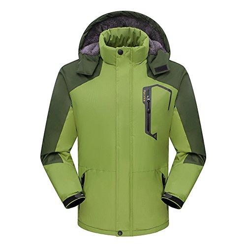 BENNINGCO Mens Thick Velvet Lightweight Windproof Jacket Outdoor Sports Fleece(Grassiness,4XL)