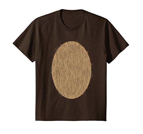 Kids Deer Belly Tshirt Halloween Costume Rudolph DIY Shirt 6 Brown for $<!--$16.95-->