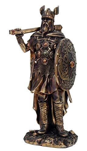 Figurine Norse Viking Decorative Chief Warrior Warlord Standing Statue Barbarian ()