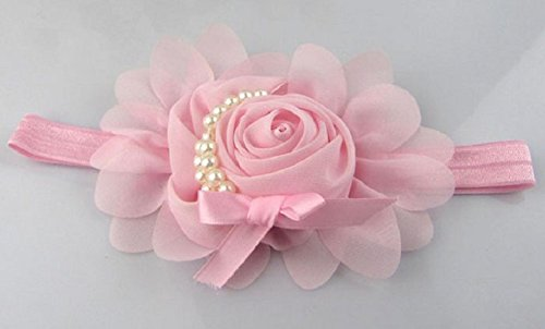 FEITONG(TM) Lovely Rhinestone Unusual Angel Girls Baby Pearl Flowers Hairband Headbands