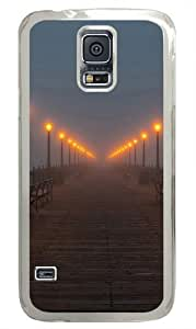 Foggy pier PC Case Cover for Samsung S5 and Samsung Galaxy S5 Transparent