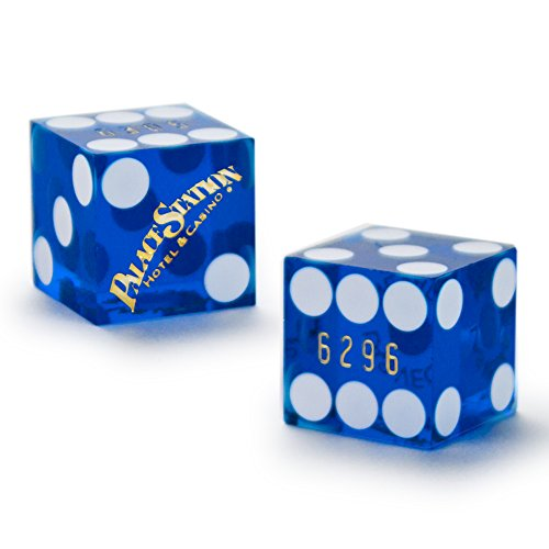 Pair (2) of Official 19mm Casino Dice Used at the Palace Station Casino by - Vegas Las Malls