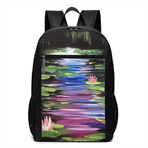 TRMdesign Lotus Oil Cause Laptop Backpack Fit 17 Inch for School Or Men and Women